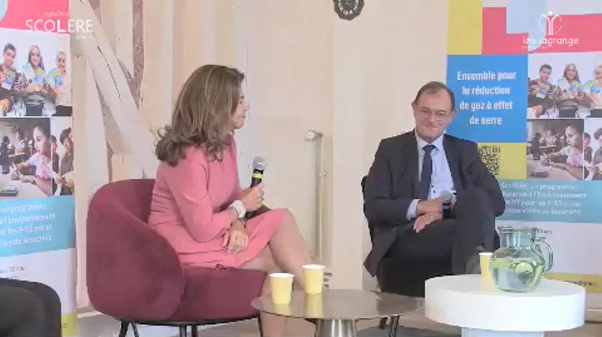 Conférence de presse Carbone Scol'ERE France1