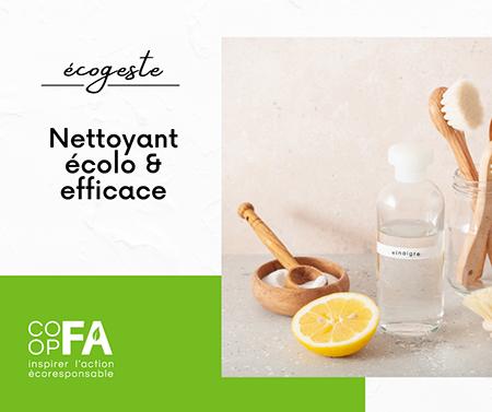 Nettoyant écolo et efficace - Coop FA